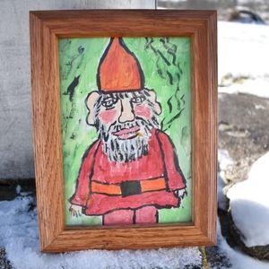 Original Folk Art Gnome